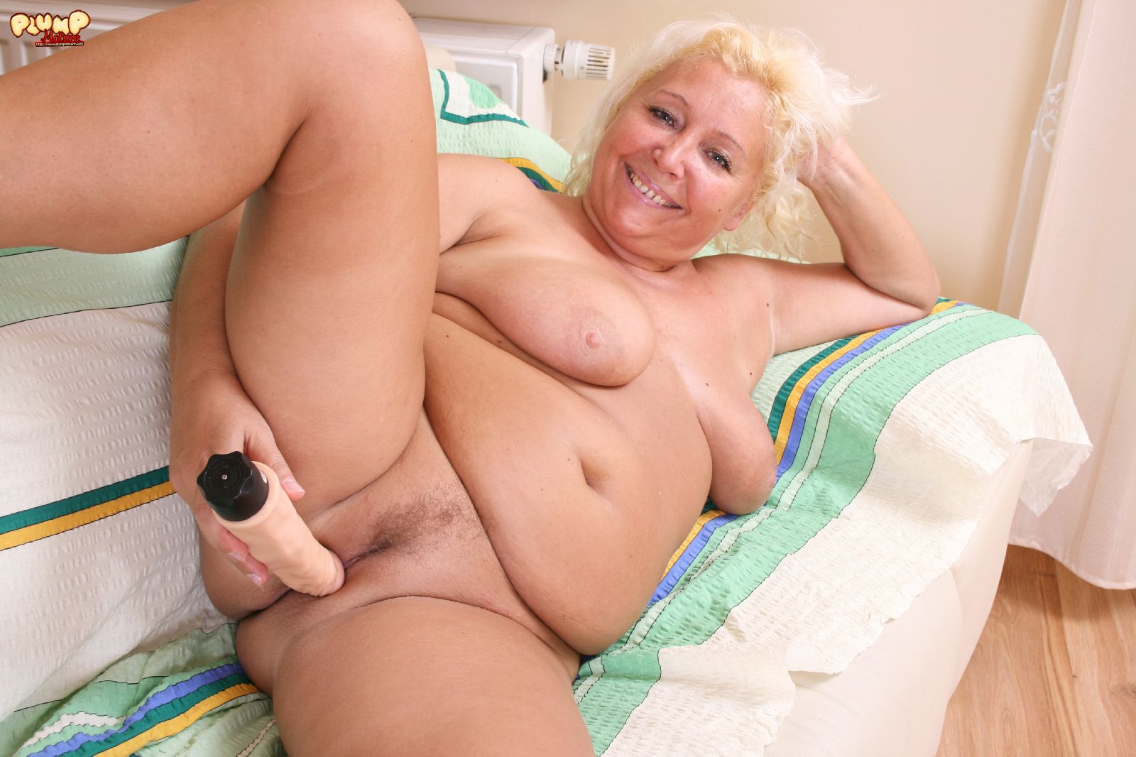 image Blonde old granny is doggystyle fucked